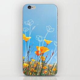 Orange Poppy Field iPhone Skin