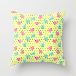 Freely Birds Flying - Fly Away Version 1 - Butter Color Throw Pillow