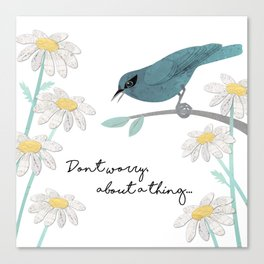 Three Little Birds, Part 1 Canvas Print