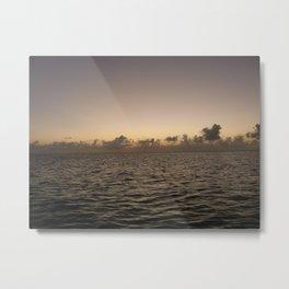 Jamaica by Sea at Dusk Metal Print