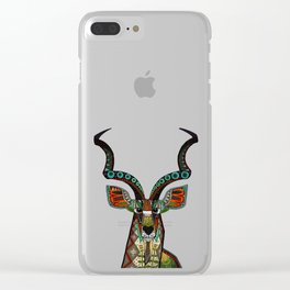 antelope red Clear iPhone Case