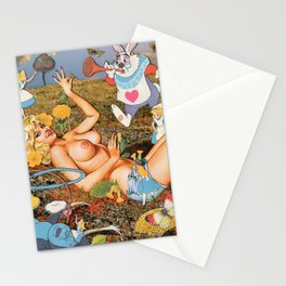 Down the rabbit hole Stationery Cards