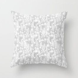 Winter patterns on the window. Throw Pillow