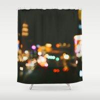 las vegas Shower Curtains featuring Las Vegas by Alden Terry