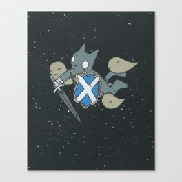 Cat in Space with Sword Canvas Print