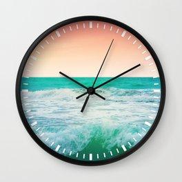 Aqua and Coral, 3 Wall Clock
