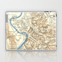Vintage Map of Rome Italy (1870) Laptop & iPad Skin