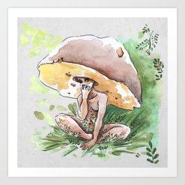 Empire of Mushrooms: Boletus Edulis Art Print
