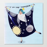 universe Canvas Prints featuring Universe by Bex Bourne