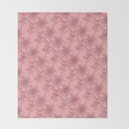 Mauve on Pink Stargazer Throw Blanket