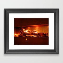 golden buddha, reclining Framed Art Print