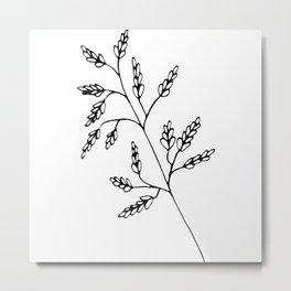 Branch White Metal Print