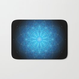 crystal mind. sacred geometry mandala Bath Mat