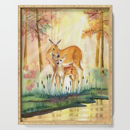 Mom and Little Deer Serving Tray