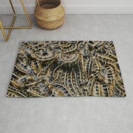 Tree Killing Caterpillars Rug