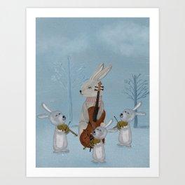 the bunny quartet Art Print