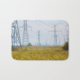 Landscape with power lines Bath Mat