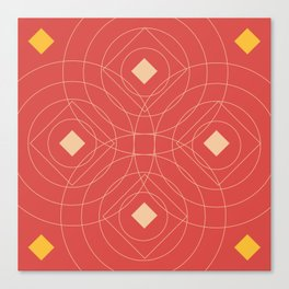 SOUND! Circle Square Pattern (Girl) Canvas Print