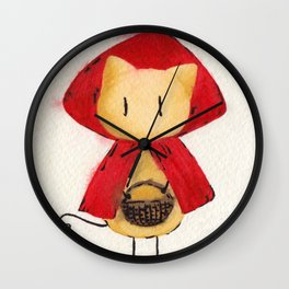 Little Red Riding Stickitty Wall Clock