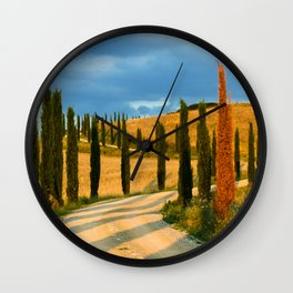 avenue of cypresses 2 Wall Clock