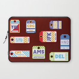 Retro airport ticket Laptop Sleeve