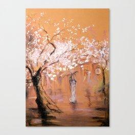 Walk under the rain Canvas Print