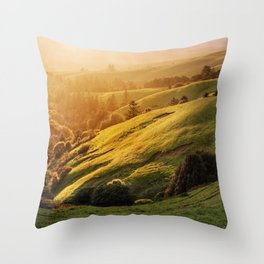 Raccoon Ridge Marin County Throw Pillow