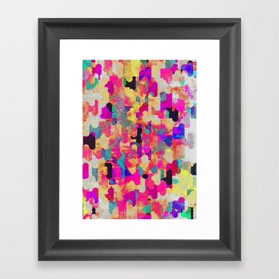 Neon Tambourine Framed Art Print