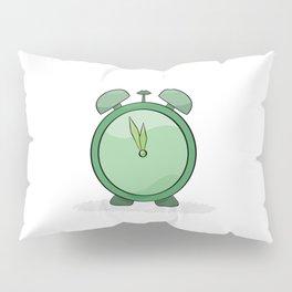 green alarm clock Pillow Sham