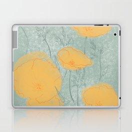 California Poppies in Gray Laptop & iPad Skin