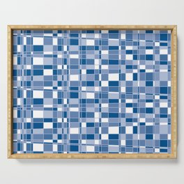Mod Gingham - Blue Serving Tray