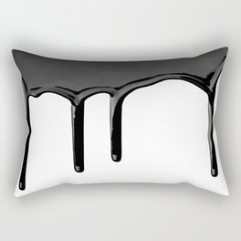 Black paint drip Rectangular Pillow