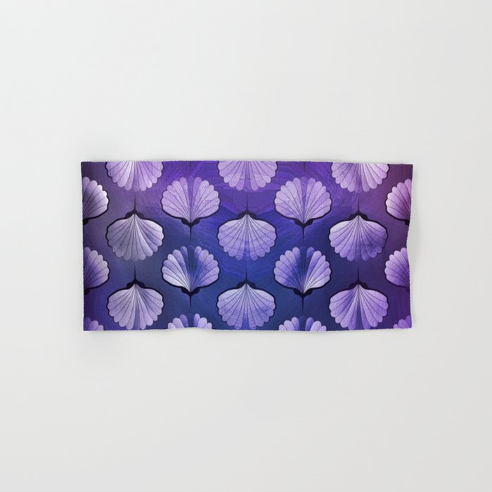 Blue sea geometric pattern Hand & Bath Towel