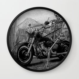 Skeleton Fat Boy Wall Clock