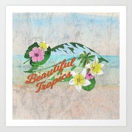 Retro Beautiful Tropics Art Print