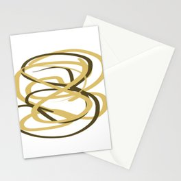 Black and Gold Abstract Acrylic Stationery Cards