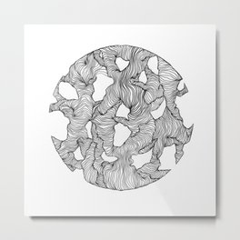 Reticulated Metal Print