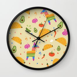 Taco Fiesta Wall Clock