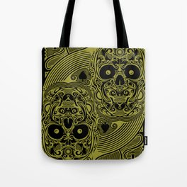 Ace of Spades Gold Skull Playing Card Tote Bag