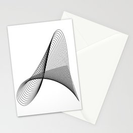 """""""Linear Collection"""" - Minimal Letter A Print Stationery Cards"""