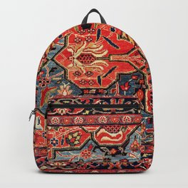 Kashan Poshti Central Persian Rug Print Backpack