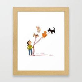 The Dog Walker Framed Art Print