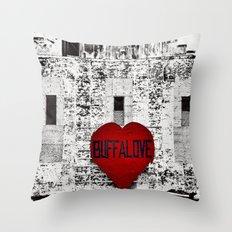 Buffalo Urban movement Throw Pillow