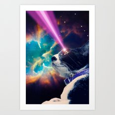 Neko San in Space Art Print