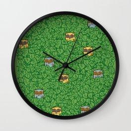 Little Leafy Friends Wall Clock