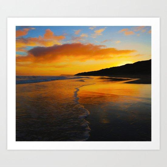 Seaside Dawn Art Print