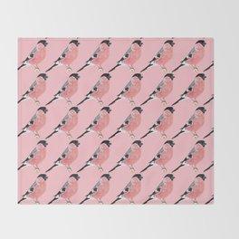 Siberian Bullfinch (rose palette) Throw Blanket