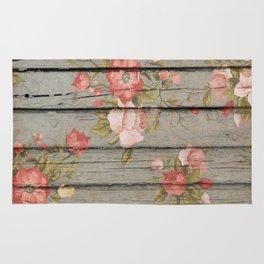 Rustic Floral Rug