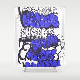Graffiti illustration 06 Shower Curtain