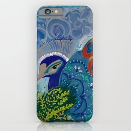 Think Peacock iPhone Case